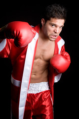 Young Man Boxing