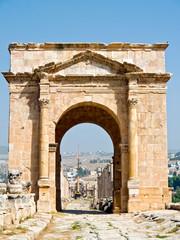 Main street cardo in  Jerash, Jordan