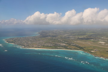 Aerial view of St. Maarten