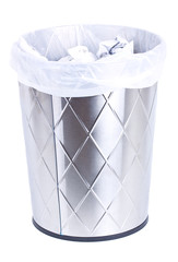Trash bin isolated on white.