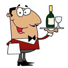 Hispanic Male Waiter