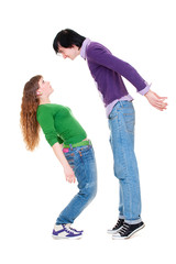 tall man and short woman
