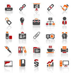3 color icons - business - set 3