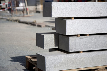 Construction site - granite blocks