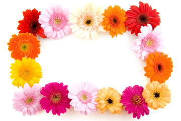 Colorful flower frame