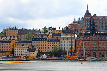 Cityscape view of Stockholm, Sweden.