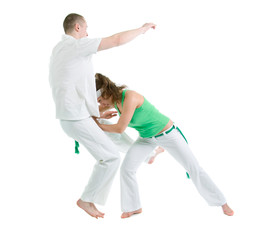 capoeira dancer posing