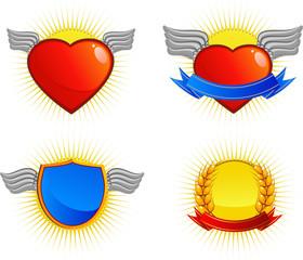 Collection of four vector logos