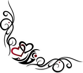 Herz, Liebe, love, Valentin, tattoo, design element, Ranke