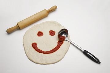Sonrisa de una pizza.