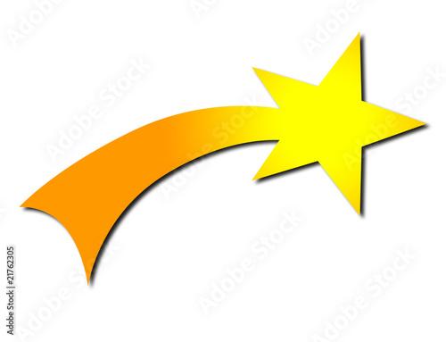 orange gelb christen symbol sternschnuppe stockfotos. Black Bedroom Furniture Sets. Home Design Ideas