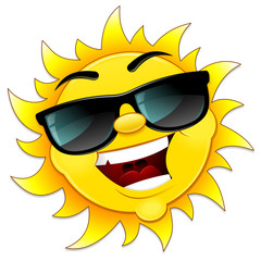 Cool sun illustration