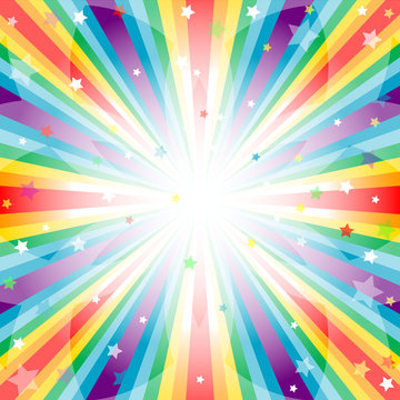 Abstract rainbow  background  with rays