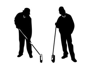 Zwei Männer bei der Arbeit
