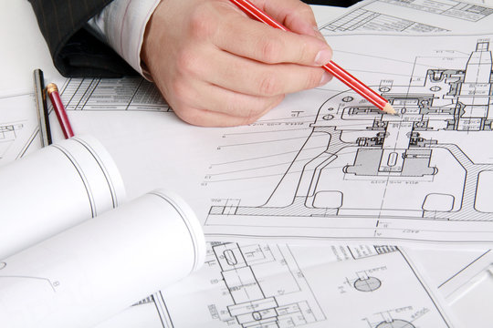 The technical drawing