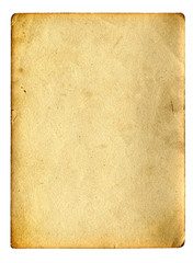 old paper with space for text isolated on the white