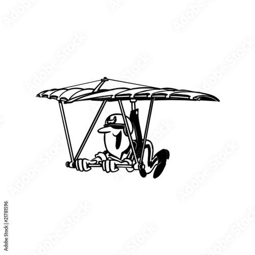 Deltaplane illustration fichier vectoriel libre de - Parapente dessin ...