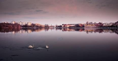 Stockholm wiew across a lake
