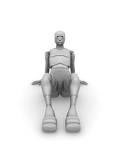 seated female android