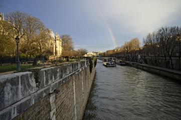 Rainbow above the Seine