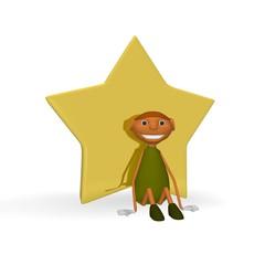 goblin sitting with star