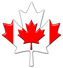 Canada flag in maple leaf