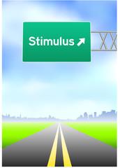Stimulus Highway Sign