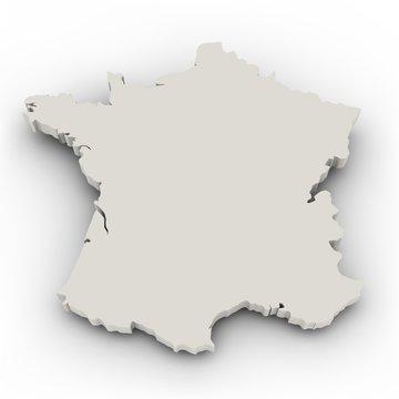 Landkarte Frankreich
