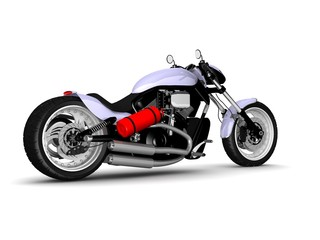 modern motorcycle isolated on white background