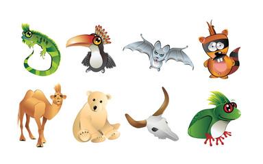 animales caricatura en vector
