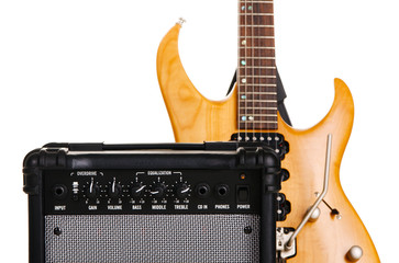 Fotoväggar - Electric guitar with amplifier
