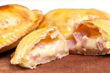 Aluminium Prints Appetizer Ham and Cheese Empanada