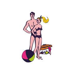 plage, bord de mer, illustration