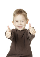Boy Giving Two Thumbs Up