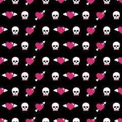skulls and hearts