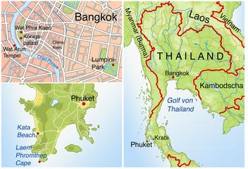 Landkarte von Thailand