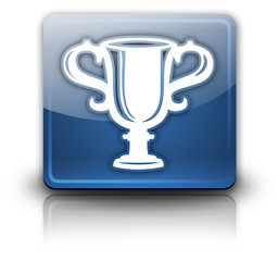 "Glossy Square Button ""Award Cup"""