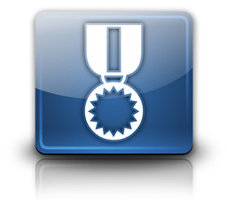 "Glossy Square Button ""Award Medal"""