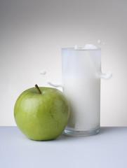 milk apple hands