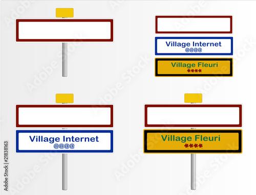 panneau de signalisation entr e de village fichier vectoriel libre de droits sur la banque d. Black Bedroom Furniture Sets. Home Design Ideas