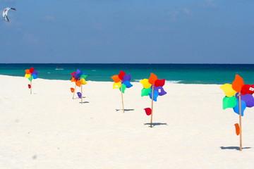Pinwheels at the beach - Playa del Carmen, Mexico