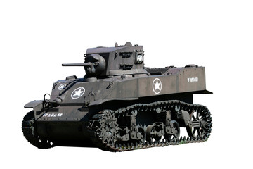 Isolated army tank