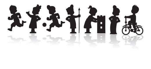 Children'a silhouette