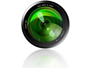 Camera Lens - Green