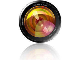 Camera Lens - Yellow