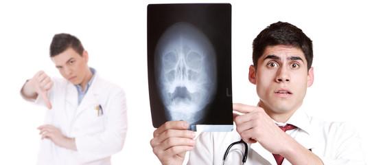 Caucasian  doctor's