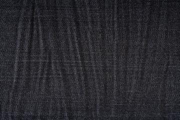 Wrinkled black jeans