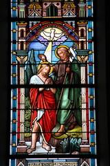 Photo sur Plexiglas Vitrail Baptême