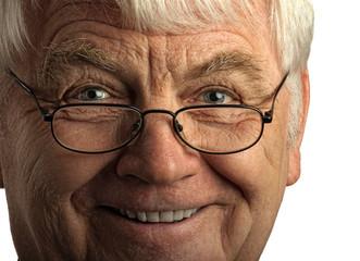 Freundliches Gesicht eines alten Mannes