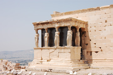 Porch of the Caryatids, fragment of the Erechtheum